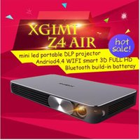 Wholesale Usb Wifi Lg - XGIMI Z4 Air Full HD portable DLP mini projector 3D proyector led tv beamer Build-in 13600mAh LG Li-on battery WIFI Android 4.4 Bluetooth