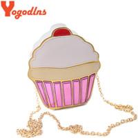 Wholesale Cute Party Cakes - Yogodlns CUTE!Funny Ice Cream Cake Bag Small Crossbody Bags For Women Cute Purse Handbags Chain Messenger Bag Party Bag