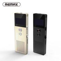 Wholesale Telephone Portable Digital - Wholesale-REMAX Professional Audio Recorder Business Portable Digital Business Voice Recorder Support Telephone Recording MP3 Player