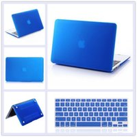 Wholesale Macbook Pro Pc Keyboard - Rubberized Hard Tablet PC Case cover + Keyboard Cover for Macbook Pro 13 15 Retina 12 13 Air 11.6 13.3 with DHL