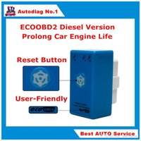 Wholesale Fuel Economy Chip - Power Prog New Brand EcoOBD2 Diesel Car Chip Tuning Box ECO OBD2 Economy Plug & Drive ECU Remap Tool Save Fuel With Reset Button