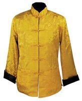 Wholesale Kung Fu Long Coat - Wholesale- Reversible Chinese tradition Men's Kung Fu Silk Satin Long sleeves Jacket Shirt Coat Size :S-XXXL YF1074