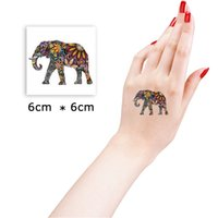 Wholesale Eye Makeup For Men - Wholesale- 6*6cm Walk Elephant Beautiful Cute Sexy Body Art Beauty Makeup Cool Waterproof Temporary Tattoo Stickers for Girls and Man