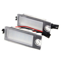 Wholesale volvo 18 - 2Pcs Car 18 LED License Plate Light White Number Plate Lamp For Volvo S80 99-06 V70 XC70 S60 XC90 Accessories
