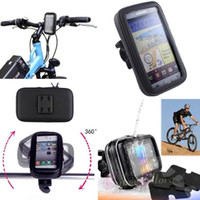 """Wholesale Handlebar Cover Iphone - Bike Bicycle Rain Waterproof Handlebar Case Cover Mount Holder Motorcycle Zipper Bag Pouch For Iphone 6 Plus 5.5"""" Galaxy S8 S7"""