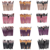 Wholesale Plastic Eyeliner - 20Pcs Cosmetic Makeup Brushes Set Powder Foundation Eyeshadow Eyeliner Lip Brush Tool Brand Make Up Brushes beauty tools pincel maquiagem