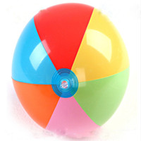 Wholesale Inflate Balls - 2017 Summer Inflated balloon PVC Outdoors Play in the water Beach ball Children toy ball 30cm 12inches C2293
