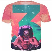 Wholesale Mens Galaxy T Shirt - Newest Fashion Womens mens Chance 3 Galaxy Summer Style Funny 3D Print Casual T-Shirt AB22