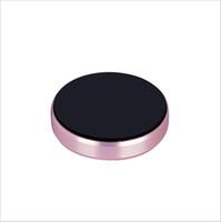 mobile aluminiumhalterung großhandel-Magnetische mini auto handyhalter handy montieren magnet flache halterung stehen aluminiumlegierungen metall aufkleber für iphone samsung