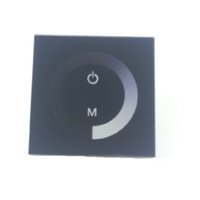 ingrosso luci del pannello 12v-Controller LED nero per 12V 24V LED flessibile striscia luminosa 5050 3528 5630 2835 Colore unico LED bobina flessibile touch panel dimmer CE ROSH