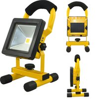 Wholesale mini led flood work lights resale online - Battery Powered portable Rechargeable LED Floodlight W W W W IP65 Outdoor Use LED Flood Work Lights Mini Camping Emergency Light