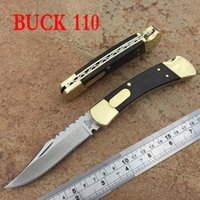 Wholesale Buck Pocket - Buck knives 110 112 Conversion classic Tactical Folding Knife Outdoor Camping Survival Pocket EDC Military Knives