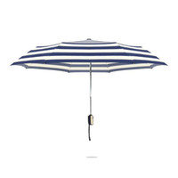Wholesale Umbrella Folding Strong - Automatic Three Folding Umbrella 8 Rib Strong Quality Stripe Umbrellas Men Rain Windproof Rain Anti-UV Sun Parasol ZA3356