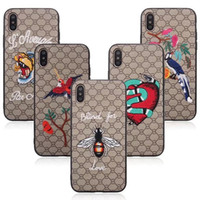 Wholesale Universal Mobile Phone Leather Case - NEW Fashion Cellphone Case Stylish Mobile Phone Protective Cover Skin for iPhone 8 X 7 6 Plus High Quality