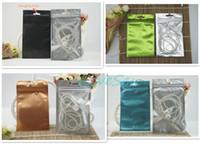 Wholesale Wholesale Black Ziplock Foil Bags - 100pcs lot 8.5x13cm front matte transparent plating foil ziplock bag, color mylar phone case packing pouch resealable, pack watch black sack