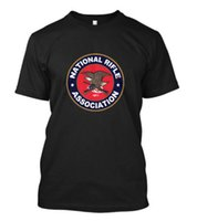 Wholesale Rifle Sleeve - New National Rifle Association NRA Guns Rifles 2nd Amendment T-Shirt Size S-3XL O Neck Short Sleeves Boy Cotton Men