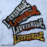 Wholesale Large Motorcycle Patches - Large size letter Embroidery Biker Patches For Vest Motorcycle Jacket Patches 3pcs lot free shipping