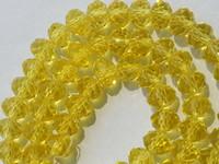 gelbe lose perlen großhandel-1000PCS wholesale 4x6mm gelbe AB Swarovski Kristall-Edelstein-lose Kornperle