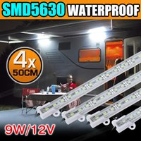 4X12V imperméable à l'eau Cool White 5630 Led Strip Lights Bars avec support en plastique AU