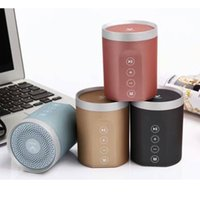 Cool Bluetooth Altavoces para iphone DS-7606 metal Pequeños Altavoces soportan TF USB Aux Manos libres Radio FM 1000mah batería