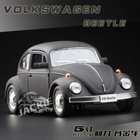 Wholesale Kids Classic Toy Cars - 1:36 Scale Diecast Alloy Metal Classic Car Model For TheVolks wagen Beetle 1967 Version Collection Model Pull Back Toys Car-Matte Black
