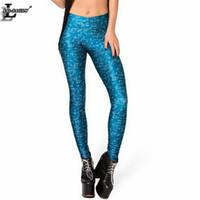Wholesale interesting pants - Wholesale- New Design Blue Math Style Print Leggings Slim Fitness Women Gothic Creative Interest Sexy Elastic Casual Pants BL-458