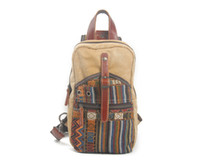 Wholesale Body Elements - Personality national wind element canvas chest Backpack man and woman leisure single shoulder crossbody bag