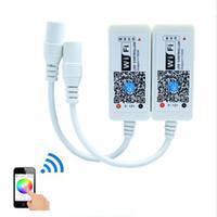 12v panel ışıkları toptan satış-Sihirli Ev Mini RGB RGBW Wifi Kontrol Led Şerit Paneli ışık Zamanlama Fonksiyonu Için 16 milyon renk Smartphone Kontrol