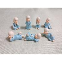 ingrosso mini figurine-7pcs Mini Monks Figurines Zen e Shaolin Ornamenti decorativi Desktop Miniature Fairy Garden Terraium Home Garden Decoration Vaso 89