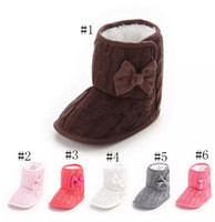 Wholesale wholesale baby boots - Kids Toddler winter Shoes infant Bow Cotton boots Girls boys Fashion Baby First Walkers B11