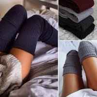 Wholesale Over Knee Warm Boots - Womens Winter Soft Cable Knit Over knee Long Boot Thigh-High Warm Socks