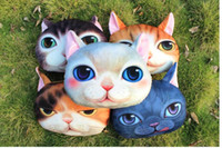 Wholesale 3D Animal Pillow Case Cats Dog Head Pillow Cover Meow Star Doge Cushion Cases Cat Dog Face Pillowcases Home Sofa Car Decor A