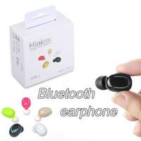 Wholesale ear buds microphone - Q13 Mini Bluetooth Headset Wireless Earphones V4.1 In-ear Music Ear Buds Headset With Microphone Earbud For iphone Samsung xiaomi Hawei