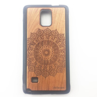 Wholesale Galaxy Note Wood - Classical Wood Pattern TPU Mobile Phone Protective Back Cover Case Skins For Samsung Galaxy Note 4 Note 5 S5 S6Edge Plus for Gifts