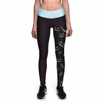 Cheap yoga pants size xs - Wholesale- 2017 Fitness Running Pants Women Sport Leggings Quick Dry Elastic Plus Size Tight Compression Jogging Yoga Sweat Print Eye Black