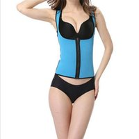 Wholesale Corset Perfect Shaper - Wholesale- Perfect Women Tight Fitness Vest Waist Cincher Trainer Workout Sauna Suit Waist Trainer Corset Shaper Body Deep W Collar Tops