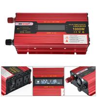 wechselrichter lcd großhandel-1000 Watt Auto Wechselrichter LCD Display Aluminiumlegierung Fall Solar Power Converter 12 V 24 V zu AC 230 V 110 V CEC_63E