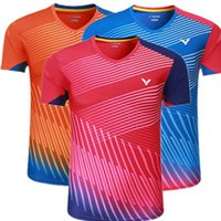 Wholesale Badminton Uniforms - New 2017 Quick dry victor badminton sport t-shirts uniforms authentic,ping pong jesey table tennis volleyball shirts,victor badminton shirts