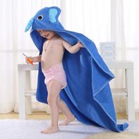 Wholesale Toddlers Bathrobes Girls - Kids Towel 2017 Toddler 100% Cotton Bathrobe Baby Boys Girls Spring Animal Hooded Bath Towel Children Cartoon Towel