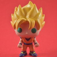 Wholesale Finish Clear - FUNKO POP Q version of Super Saiyan Sun WuKong PVC animation Action Figures model Seven dragon ball Z