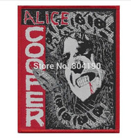 """Wholesale Woven Patches Wholesale - 3.9"""" Alice Cooper Killer Patch Metallica Iron Maiden AC DC England Motorhead Manowar Tank band iron on woven band music transfer"""