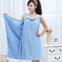 Wholesale Women Spa Towel Wrap - 160*80cm Women Wearable Bath Towel Dress Superfine Fiber Bathrobe Spa Suspenders Soft Wrap Skirt Towels Super Absorbent Home Textile