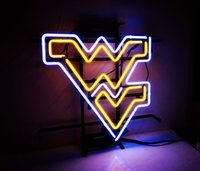 Wholesale Glass West - New HIGH LIFE Neon Beer Sign Bar Sign Real Glass Neon Light Beer Sign ME 635-NCAA West Virginia 16x16 001