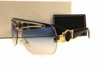Wholesale Medusa Men - 2017 new arrive summer fashion Italy brand designer metal Gold Frames Medusa sunglasses men women outdoor vintage eyewear