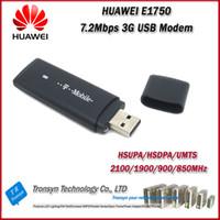 Wholesale Tablets Usb Modem - Hot Sale Original Unlock 7.2Mbps HUAWEI E1750 3G USB GMS Modem Support CCTV Camera And Tablet PC