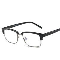 óculos falsos para homens venda por atacado-Atacado-Marca TR90 Anti Blue Ray Limpar Lens Óculos Falso Óculos de Proteção Titanium Frame Óculos de Leitura Computador Óculos Para Mulheres Homens