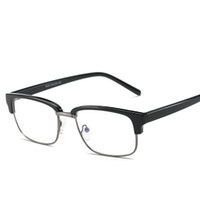 Wholesale Glasses Computers - Wholesale- Brand TR90 Anti Blue Ray Clear Lens Fake Glasses Protection Eyewear Titanium Frame Reading Computer Glasses For Women Men