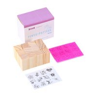 Wholesale Good Craft Flowers - Wholesale- Vintage Flower Lace Pattern Square Wooden Rubber Stamp 12pcs bag Letters Diary DIY Craft Scrapbooking Good Gift to friend