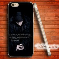 Wholesale Eminem Iphone Cover - Coque Eminem Quotes Soft Clear TPU Case for iPhone 6 6S 7 Plus 5S SE 5 5C 4S 4 Case Silicone Cover.
