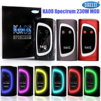 Wholesale Color Vapor Battery - Authentic Sigelei Kaos Spectrum 230W Box Mod New Color Fit 2pcs 18650 Battery 0.96TFT Big OLed Display 6 Changeable e cigs Vapor Mods DHL